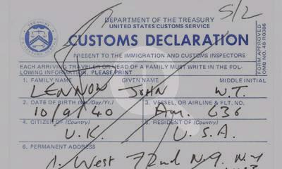 The Beatles Polska: Autograf Johna Lennona na deklaracji celnej